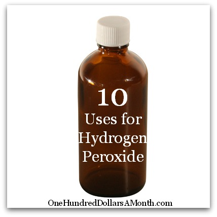 10 Uses for Hydrogen Peroxide money saving tips