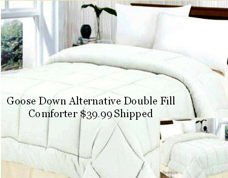 Clara Clark Goose Down Alternative Double Fill Comforter