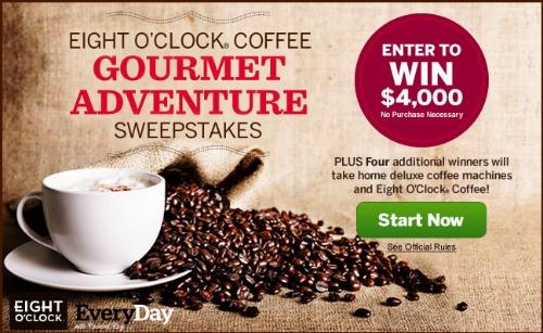Eight O'Clock Coffee Gourmet Adventure Sweepstakes