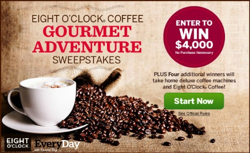Eight O'Clock Coffee Gourmet Adventure Sweepstakes