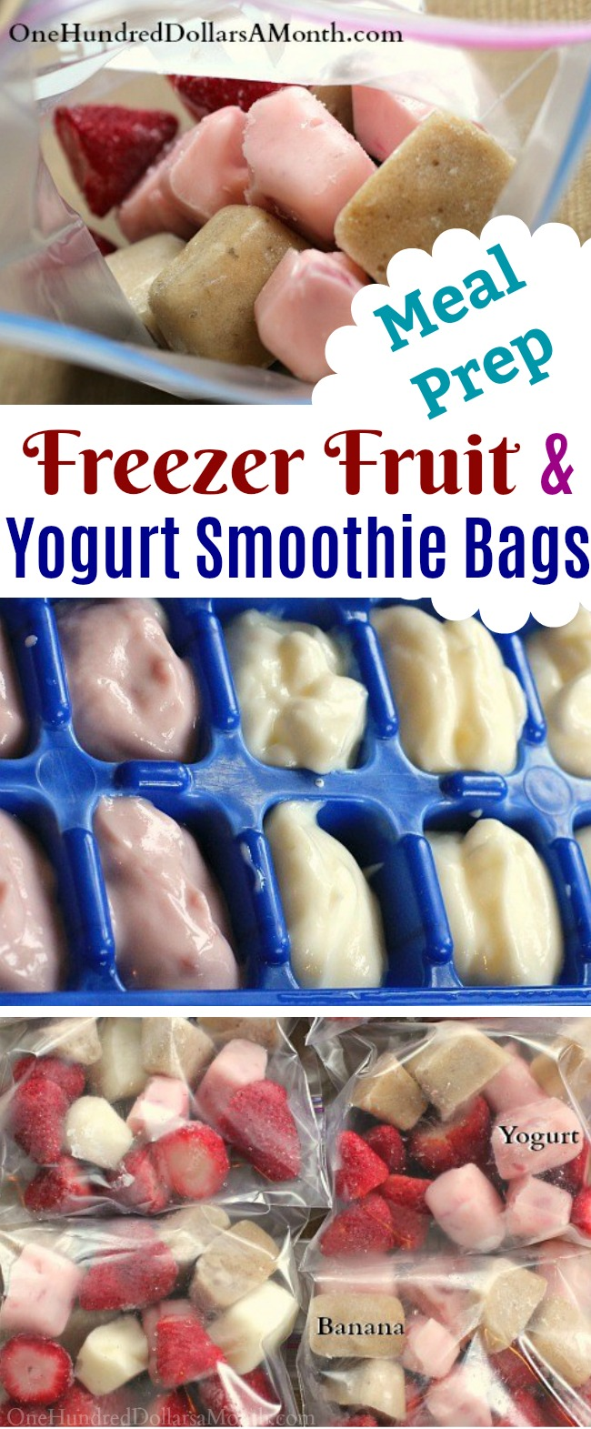 DIY Freezer Fruit and Yogurt Smoothie Bags