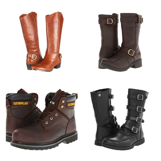 Harley Davidson and Caterpillar Boots