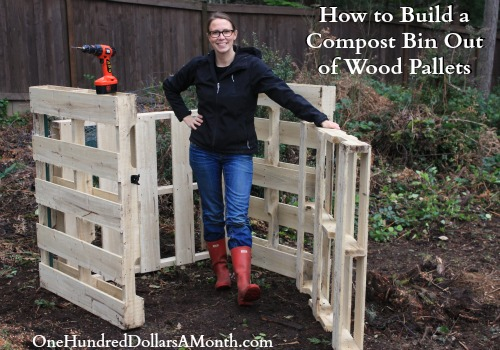 Backyard compost bin home depot 2017 2018 best cars for How to build a house out of wood pallets