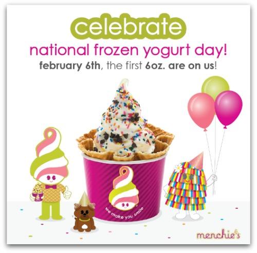 Menchies free frozen yogurt