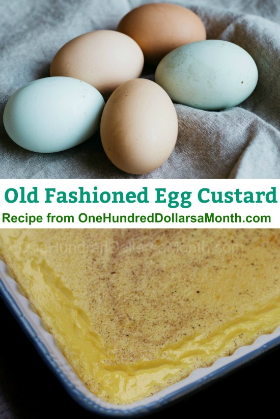 Old Fashioned Egg Custard Recipe