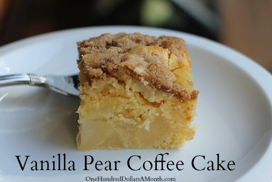 Recipe Vanilla Pear Coffee Cake