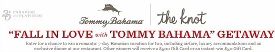Tommy Bahama sweepstakes
