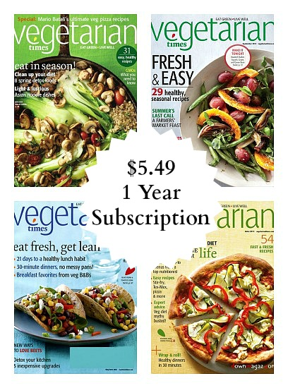 Vegetarian Times magazine subscription deal