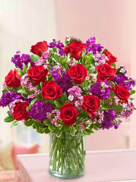flowers in vase valentines day