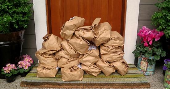 bags of seed potatoes