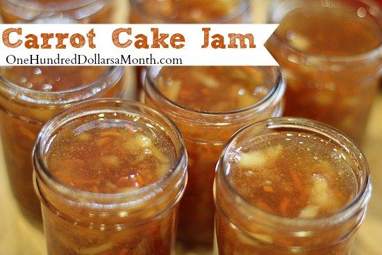 Carrot Cake Jam Recipe
