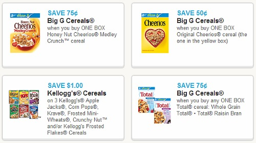 New Printable Coupons – Cereal, Household, Yogurt, Snacks, Pampers Diapers and More