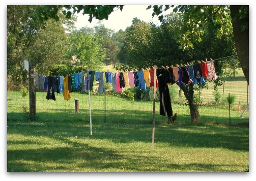 Clothesline Vs. Clothes Dryer