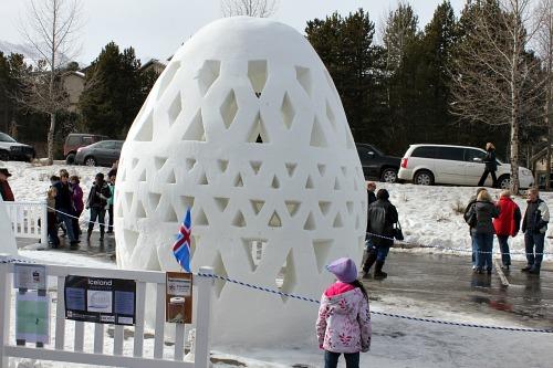 egg Snow sculpture