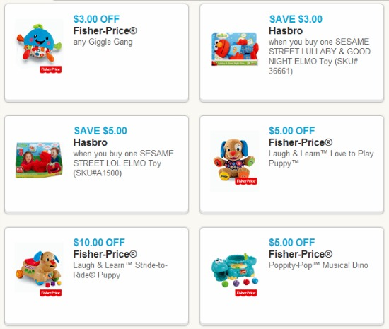 fisher price hasbro toy coupons