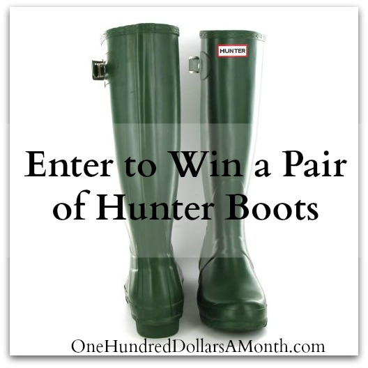Giveaway – Enter to Win a Pair of Hunter Original Tall Boots