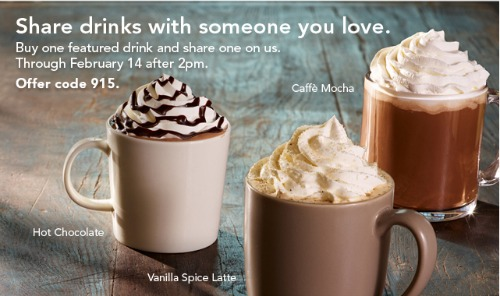 starbucks free hot chocolate coupon