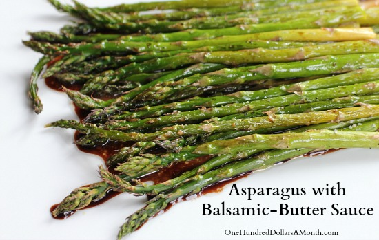 Asparagus with Balsamic-Butter Sauce