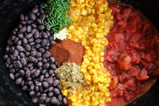easy slow cooker recipes - black bean and corn soup
