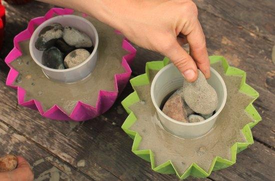 DIY Make Concrete Planters