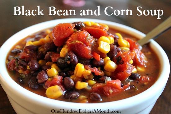 Easy Crock Pot Recipes  Black Bean and Corn Soup