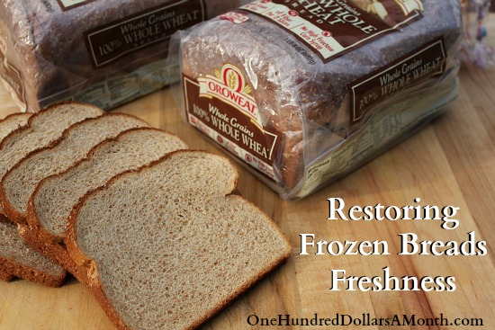 Easy Kitchen Tip – Restoring Frozen Breads Freshness