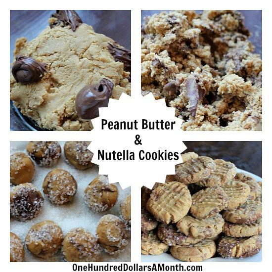 Peanut Butter & Nutella Cookies