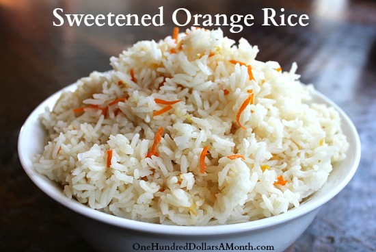 Rice Cooker Recipes – Sweetened Orange Rice
