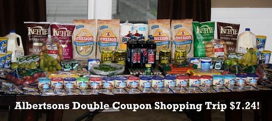 albertsons double coupon shopping trip mavis