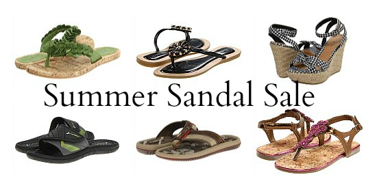 deals on summer sandals