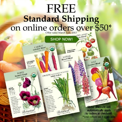 free shipping botanical interests