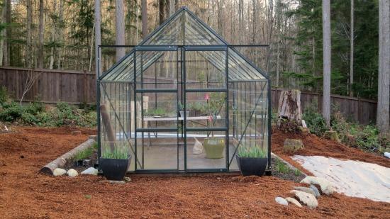 glass greenhouse english green