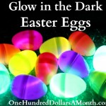 Glow in the Dark Easter Eggs with Glow Sticks