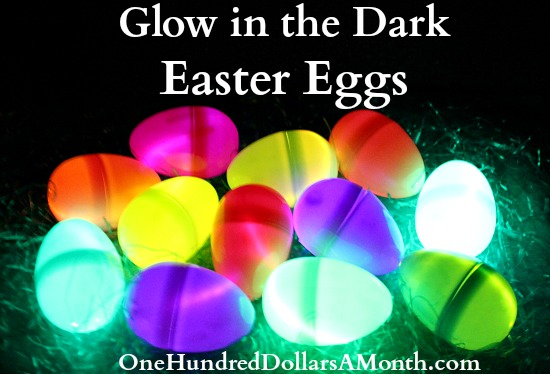 glow sticks glow in the dark easter eggs