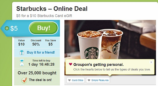 groupon starbucks deal