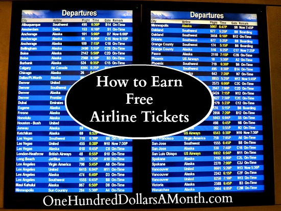 Travel Tip – How to Earn Free Airline Tickets