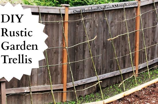 DIY Rustic Pea, Bean or Garden Trellis