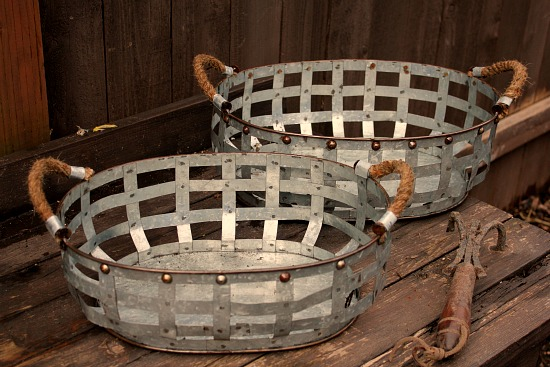 metal flower baskets