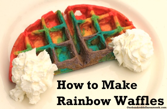 Easy St. Patrick's Day Recipe – Rainbow Waffles