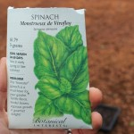 spinach seed packet