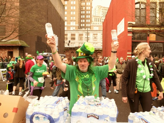 st patricks day water guy race