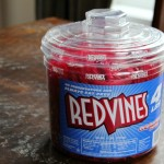 tub of red vines