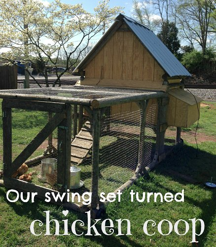 Mavis Mail – DIY Chicken Coop Made From an Old Play Set