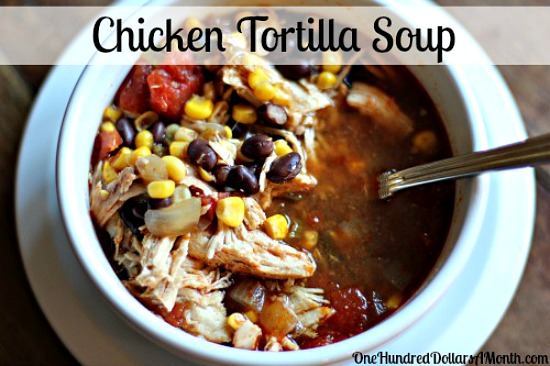 Easy Slow Cooker Recipes – Chicken Tortilla Soup
