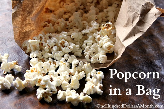 Easy Recipes for Kids  Popcorn in a Bag