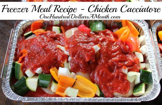 Freezer Meal Recipe - Chicken Cacciatore