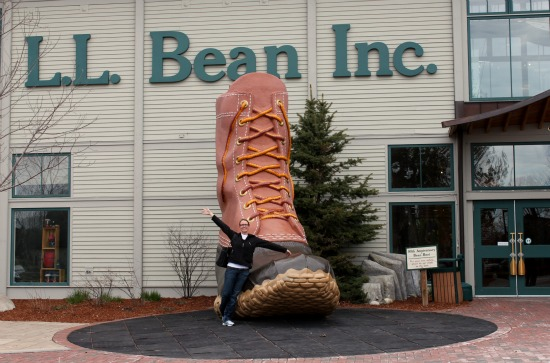 LL Bean Flagship Store Giant Boot Freeport Maine