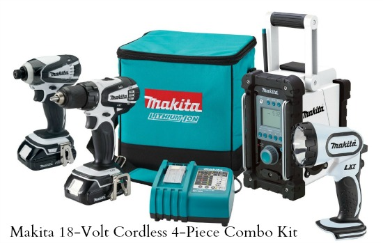 Makita  18-Volt Compact Lithium-Ion Cordless 4-Piece Combo Kit