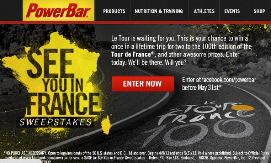 Power Bar Sweepstakes