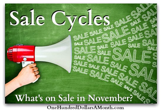 Sales Cycles – What's on Sale in November?